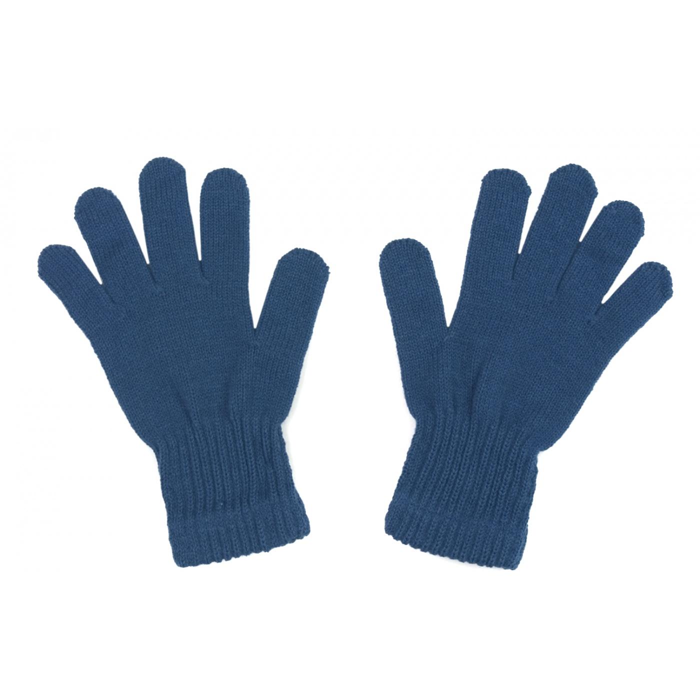 Damskie rękawiczki zimowe : jeansowe niebieskie