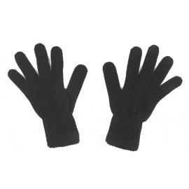 Męskie rękawiczki zimowe: czarne