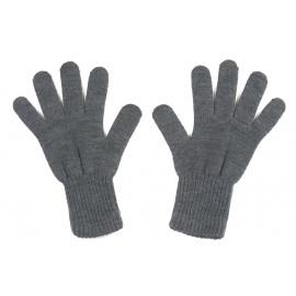 Męskie rękawiczki zimowe : grafitowe szare
