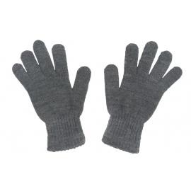 Damskie rękawiczki zimowe : grafitowe szare