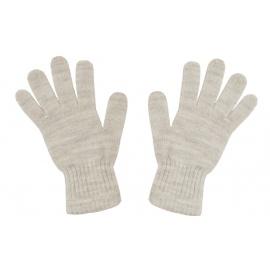 Damskie rękawiczki zimowe: beżowy melanż