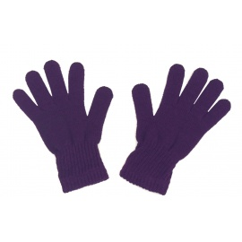 Damskie rękawiczki zimowe: fioletowe
