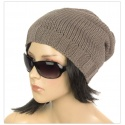 Długa czapka zimowa krasnal – ciemnoróżowy